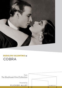 Rudolph Valentino in Cobra Manufactured-On-Demand MOD DVD Flicker Alley blu-ray DVD silent film buy watch stream