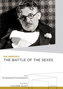 D.W. Griffith's The Battle of the Sexes Manufactured-On-Demand MOD DVD Flicker Alley blu-ray DVD silent film buy watch stream