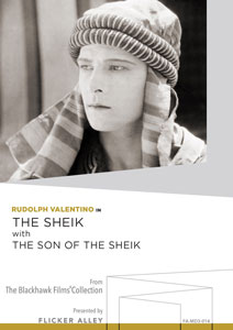 Flicker Alley blu-ray DVD silent film buy watch stream The Sheik with The Son of the Sheik Manufactured-On-Demand MOD DVD