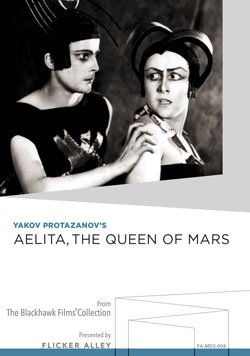 Flicker Alley blu-ray DVD silent film buy watch stream Aelita, the Queen of Mars Manufactured-On-Demand MOD DVD