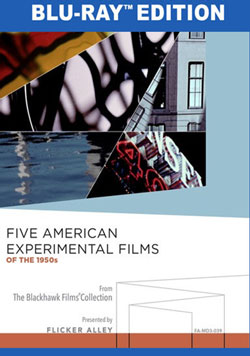 Flicker Alley blu-ray DVD silent film buy watch stream Five American Experimental Films of the 1950s Manufactured-On-Demand MOD Blu-ray