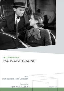 Flicker Alley blu-ray DVD silent film buy watch stream Billy Wilder's Mauvaise Graine Manufactured-On-Demand MOD DVD