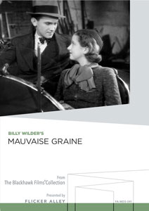 Flicker Alley blu-ray DVD silent film buy watch stream Billy Wilder's Mauvaise Graine (Bad Seed) Manufactured-On-Demand MOD DVD
