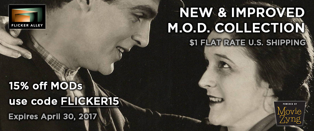 Flicker Alley MOD Blu-ray DVD silent films