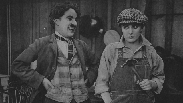 The Charlie Chaplin shorts continue with Behind the Screen.