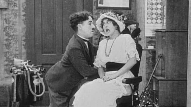 Laughing Gas is one of the early Charlie Chaplin shorts.
