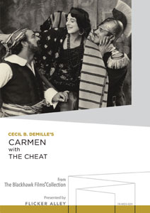 Flicker Alley blu-ray DVD silent film buy watch stream Carmen with The Cheat Manufactured-On-Demand MOD DVD