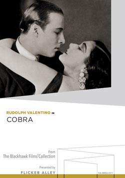 Flicker Alley blu-ray DVD silent film buy watch stream Rudolph Valentino in Cobra Manufactured-On-Demand MOD DVD