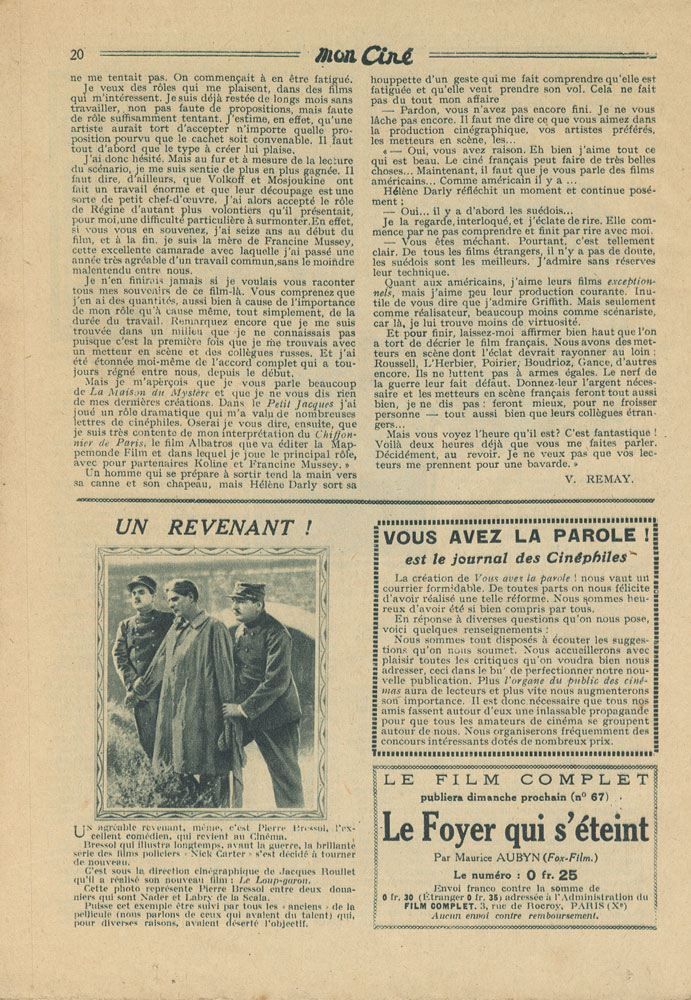 Helene Darly French Interview p 3