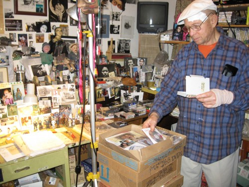 Bruce Baillie in his home office/archives, 2015