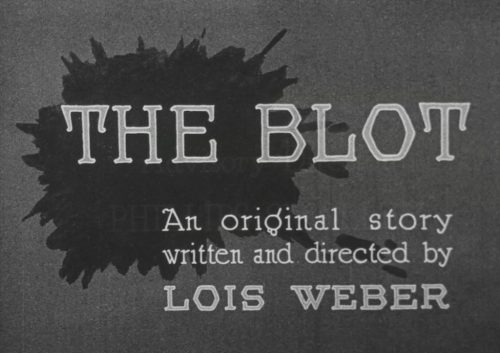 The Blot Lois Weber silent film Flicker Alley Blu-ray Early Women Filmmakers