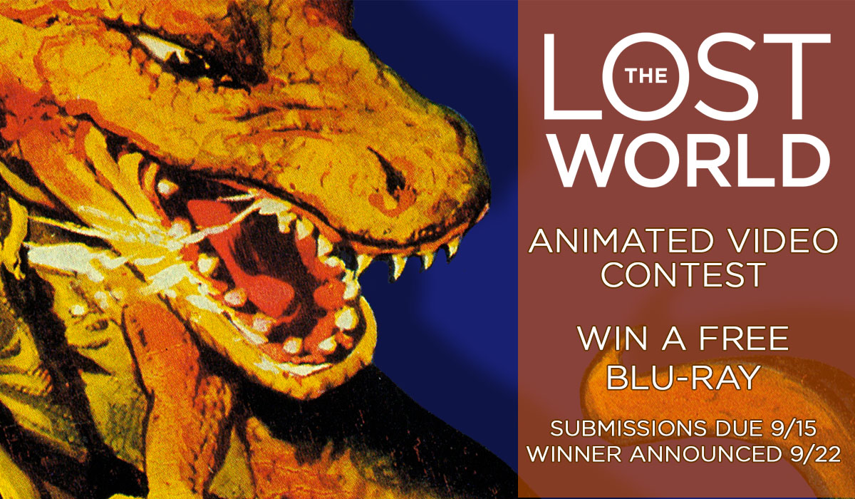 The Lost World contest gives everyone a chance to win silent film blu-rays.